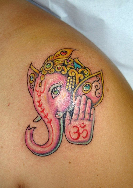 ganesh tattoos alison hinks yoga. Black Bedroom Furniture Sets. Home Design Ideas