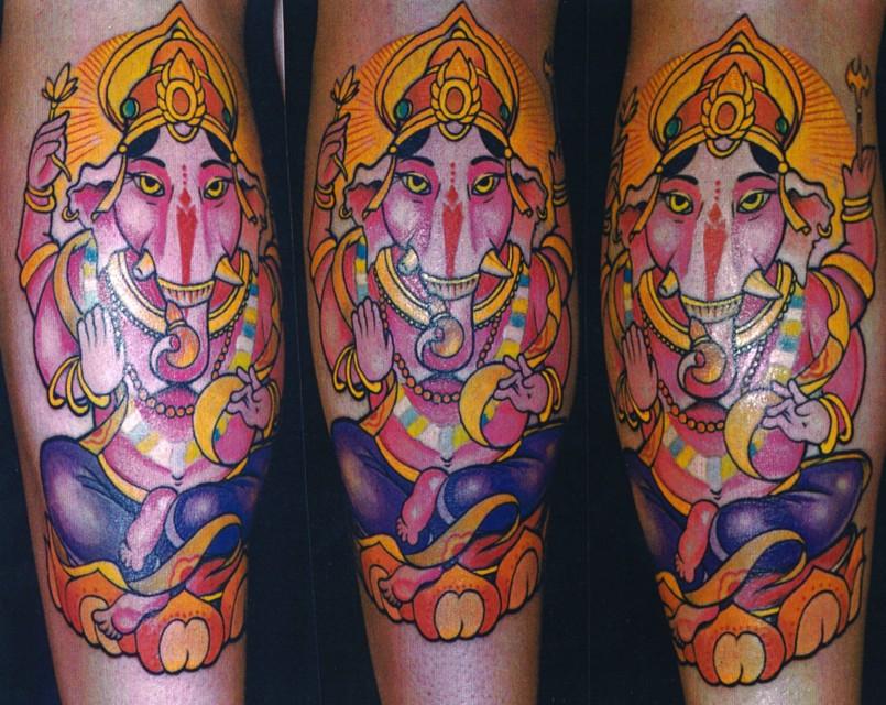 Ganesh tattoos alison hinks yoga for Ganesh tattoo pictures